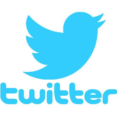 The Twitter logo, a blue bird on a white background
