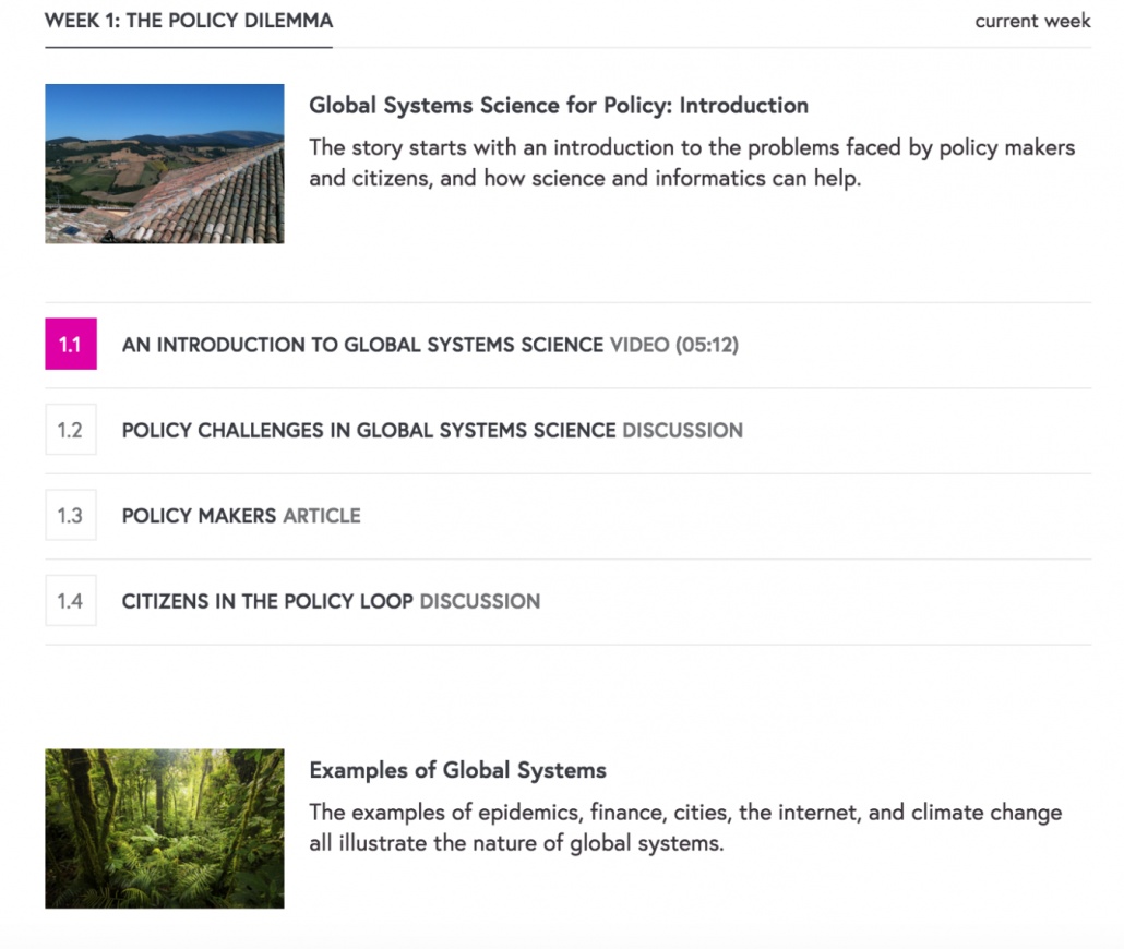 Global Systems Science and Policy to do list page